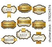 luxury premium golden labels... | Shutterstock .eps vector #578224576