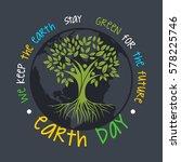 world earth day illustration...   Shutterstock .eps vector #578225746