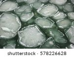 Ice Floes In The Water  The...