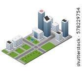 isometric isolated modern city... | Shutterstock .eps vector #578229754