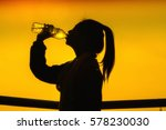 silhouettes picture of sporty... | Shutterstock . vector #578230030