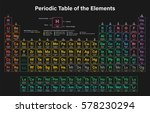 periodic table of the elements... | Shutterstock .eps vector #578230294