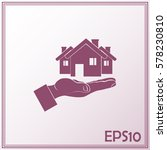 house in hand vector icon. | Shutterstock .eps vector #578230810
