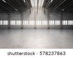 3d Rendering Empty Factory...