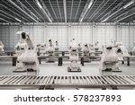 3d rendering robotic arm with... | Shutterstock . vector #578237893