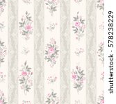 seamless floral pattern with... | Shutterstock .eps vector #578238229