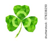 abstract geometric green clover ... | Shutterstock .eps vector #578238250