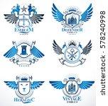 set of luxury heraldic vector... | Shutterstock .eps vector #578240998