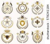 set of luxury heraldic vector... | Shutterstock .eps vector #578241184