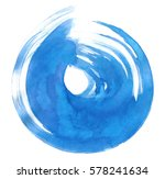 blue watercolor circular... | Shutterstock .eps vector #578241634