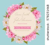 wedding invitation card  save... | Shutterstock .eps vector #578251468