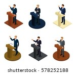 trendy isometric people 3d... | Shutterstock .eps vector #578252188