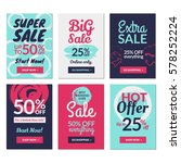 flat design sale website... | Shutterstock .eps vector #578252224