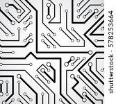 circuit board futuristic... | Shutterstock .eps vector #578253664