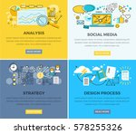 social media analysis and... | Shutterstock .eps vector #578255326