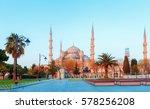 blue mosque cami at blue sky...   Shutterstock . vector #578256208
