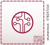circuit board  technology icon. ... | Shutterstock .eps vector #578257210