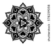 mandalas for coloring book.... | Shutterstock .eps vector #578259058