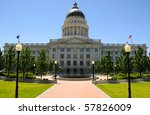 Utah State Capitol Building in Salt Lake City - stock photo