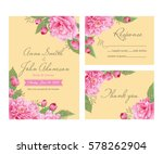 wedding invitation  thank you... | Shutterstock .eps vector #578262904