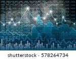 stock market chart  business... | Shutterstock . vector #578264734