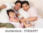 chinese family having fun on... | Shutterstock . vector #57826597