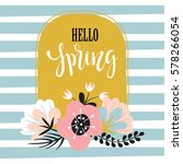 spring background with gold... | Shutterstock .eps vector #578266054