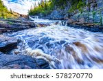 Small photo of Mountain forest wild river