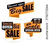 set of sale banners. yellow... | Shutterstock .eps vector #578272066