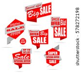 set of sale banners. red... | Shutterstock .eps vector #578272198