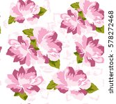 seamless pattern floral. pink... | Shutterstock .eps vector #578272468