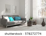 white room with sofa and winter ... | Shutterstock . vector #578272774