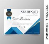 certificate premium template... | Shutterstock .eps vector #578278333