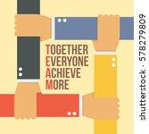 team stands for    together... | Shutterstock .eps vector #578279809