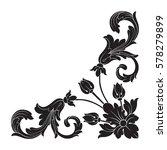 vintage baroque ornament retro...   Shutterstock .eps vector #578279899