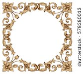 vintage baroque ornament retro... | Shutterstock .eps vector #578280013