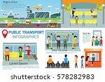 public transport infographics.... | Shutterstock .eps vector #578282983