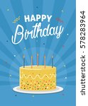 birthday greeting and... | Shutterstock .eps vector #578283964