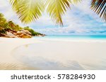 tropical beach on the sunny day | Shutterstock . vector #578284930