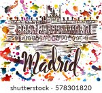 vector illustration  madrid... | Shutterstock .eps vector #578301820