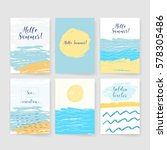 summer collection. sea... | Shutterstock .eps vector #578305486