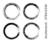 grunge circle with brush. set... | Shutterstock .eps vector #578315248