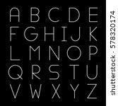 thin futuristic line font.... | Shutterstock .eps vector #578320174