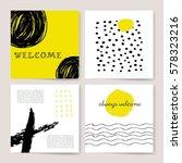 template  banners. vector brush ... | Shutterstock .eps vector #578323216