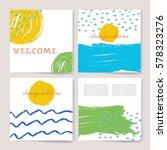 summer collection. sea... | Shutterstock .eps vector #578323276