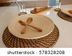 dishs on the table in kitchen... | Shutterstock . vector #578328208