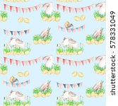 seamless pattern with... | Shutterstock . vector #578331049
