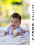 cute happy asian baby with smile | Shutterstock . vector #578334796