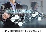 businessman hand chooses... | Shutterstock . vector #578336734
