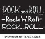 hand draw sketch rock and roll... | Shutterstock .eps vector #578342386